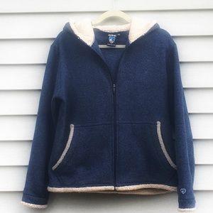 Kuhn Alfpaca Fleece Jacket with Hood & Thumb Holes